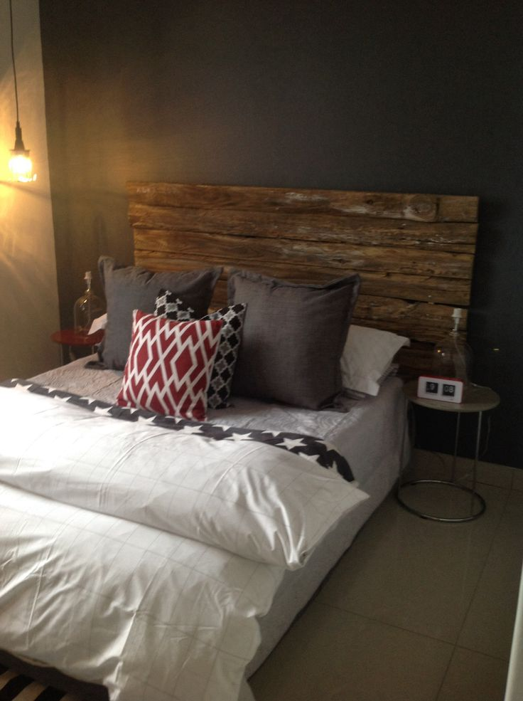 Red grey teen bedroom industrial by clutterbox