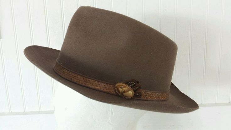 Charlie 1 Horse Custom Cowboy Hat Leather Snakeskin Band 7 1/2 USA Feather Brown in Clothing, Shoes & Accessories, Men's Accessories, Hats | eBay