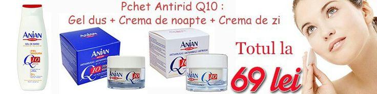 Pachet pentru ingrijirea tenului si a corpului cu cuenzima Q10 #anian #crema #q10 #ten