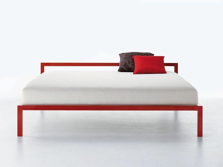 Download the catalogue and request prices of Aluminium bed lacquered by Mdf Italia, aluminium double bed design Bruno Fattorini, Aluminium collection