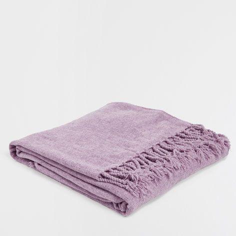Grove tricot chenille deken 130x170 cm  E 19,95