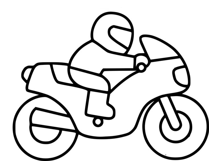 10 Coloriage Imprimer Moto in 2020 | Motorcycle drawing, Basic embroidery stitches, Art drawings ...