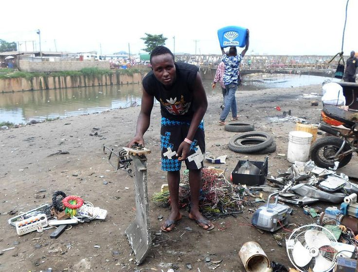 Yussif Mahawakli, a 27-year-old in Accra, Ghana, in June said he collected and resold electronic waste salvaged from a local dump. The European Environment Agency estimates between 250,000 tons and 1.3m tons of used electrical products are shipped out of the E.U. every year, mostly to west Africa and Asia. Source: DPA