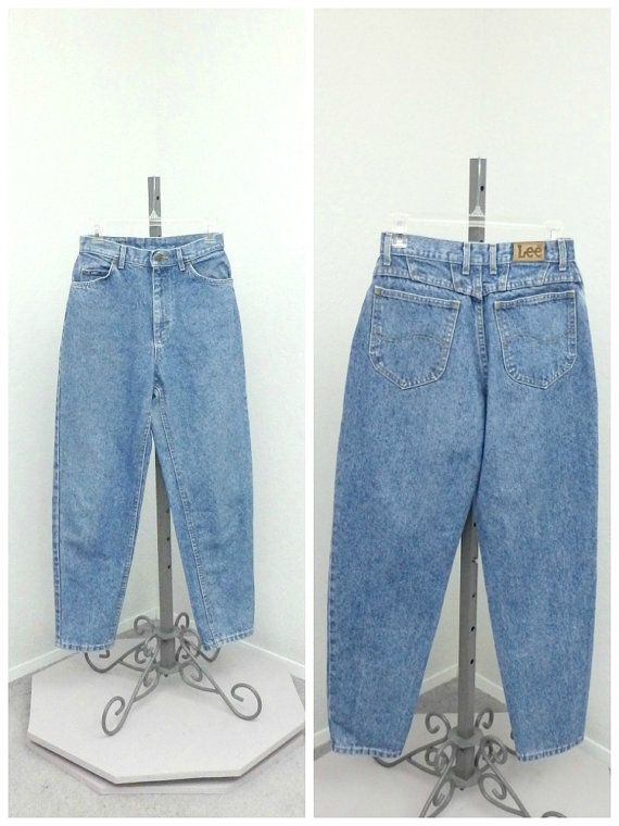 Vintage 90s Lee High Waisted Jeans Blue Jeans by SprightlyVogue