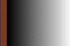 Vector abstract template with pattern. It can be used as photo album cover and other. Vintage background Royalty Free Stock Images