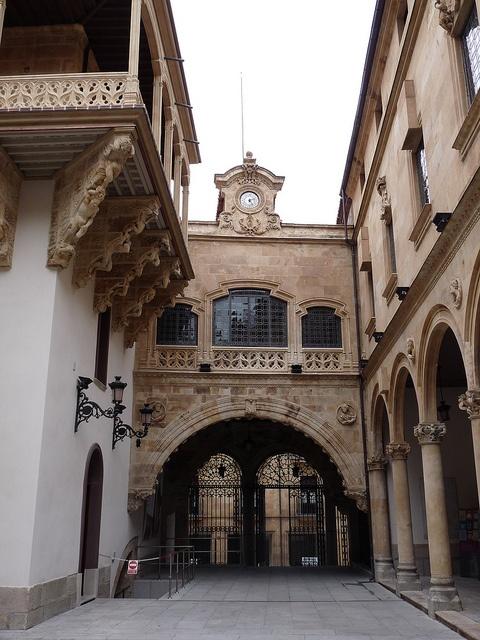 patio of the Palacio de la Salina, Salamanca España.