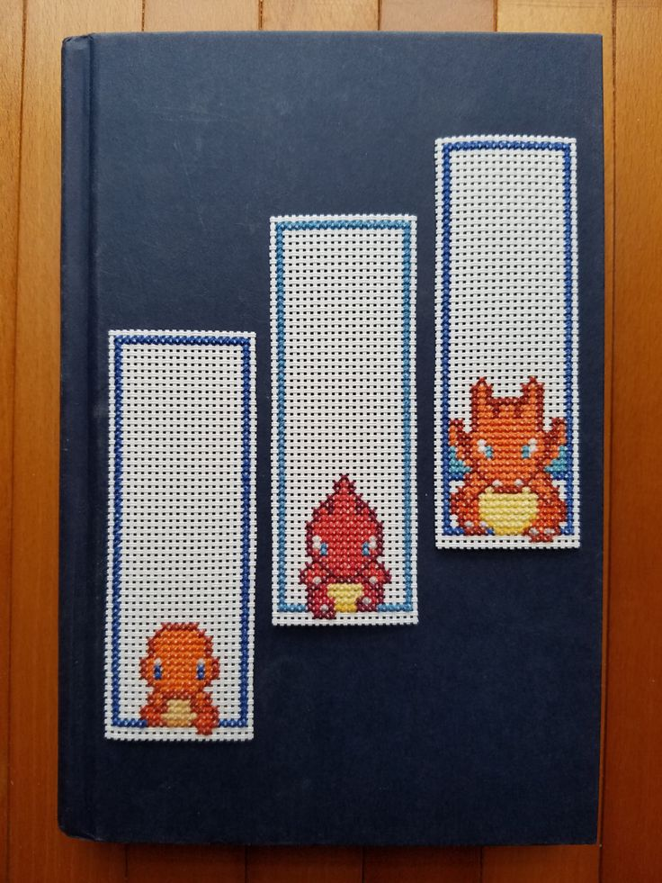 Cross Stitch Bookmarks - Pokemon - Charmander Evolutions by PupsnPixels on Etsy