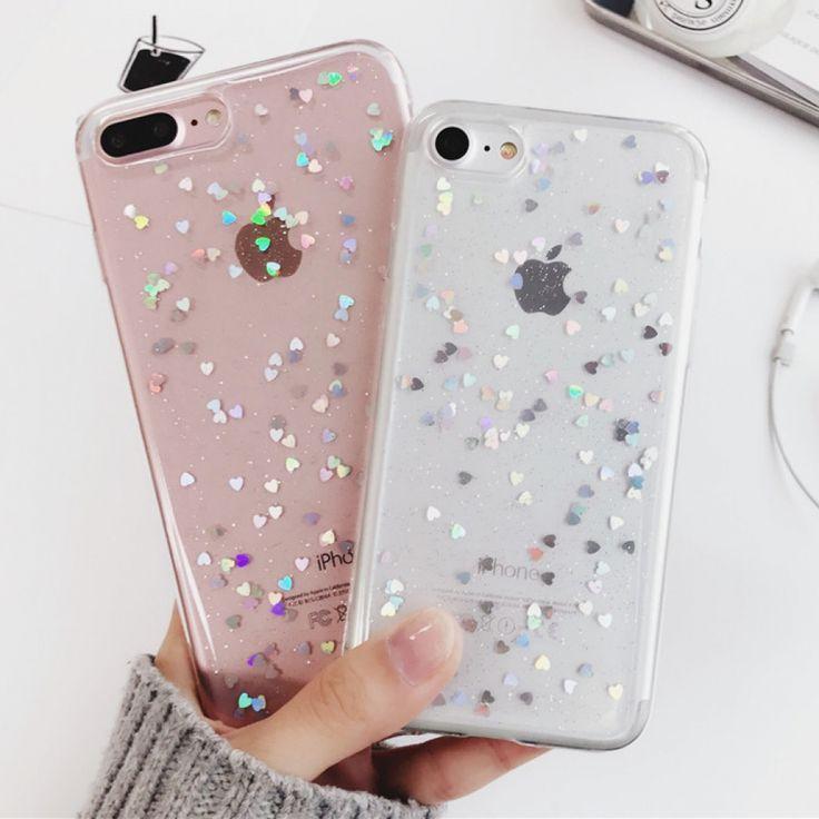 iPhone Glitter Case – Clear Iphone 6S Case – Trending Clear Iphone 6S Case #clea…