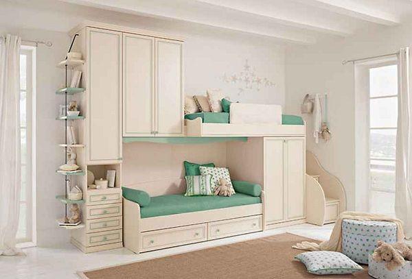 Small Girly Closets | Yeşil çocuk yatak odası tasarımı ranza olarak tasarımı, her ...