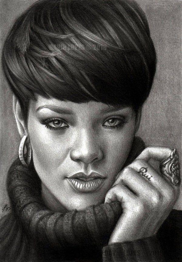 Rihanna By Davelopes On Deviantart  Celebrities -1038