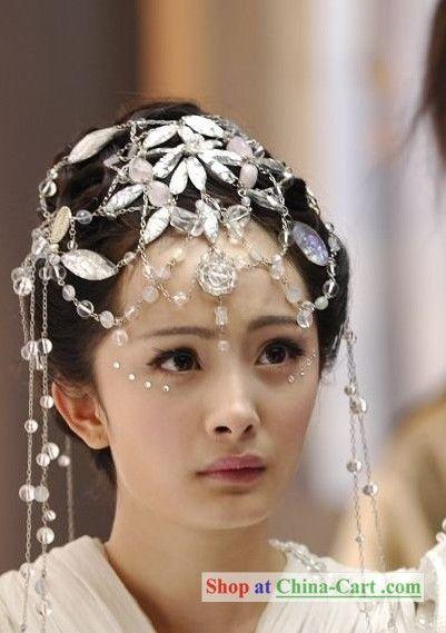 Neat crystal/beaded headdress.