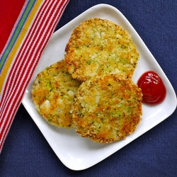 Broccoli & Cheese Patties...oh yeah, make ahead and freeze what you're not using that night too! Bonus in the biggest way!