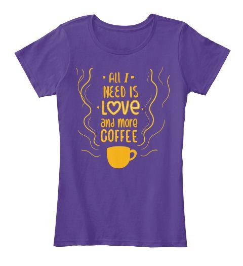 Coffee T Shirts, Shirts, Tees, Clothing Purple Women's T-Shirt Front