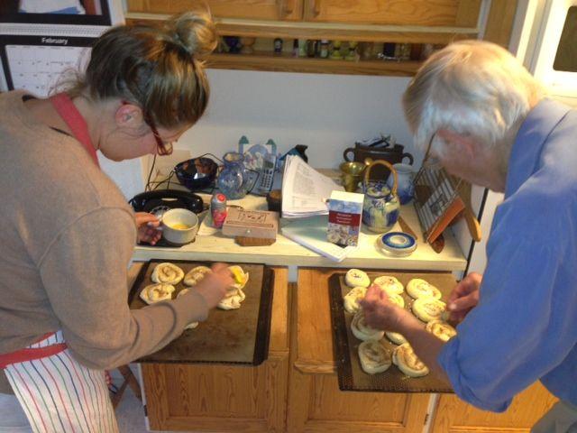 Swedish bun making