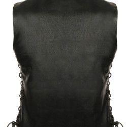 Ladies Motorcycle Leather Vest back