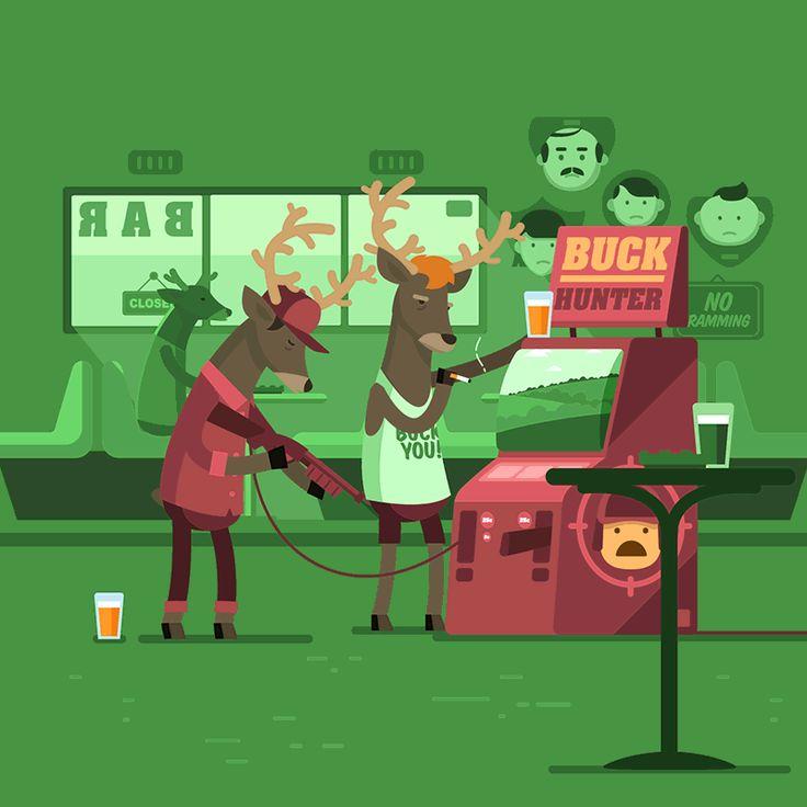 Manimals - Buck Hunter - Animated Gif on Behance