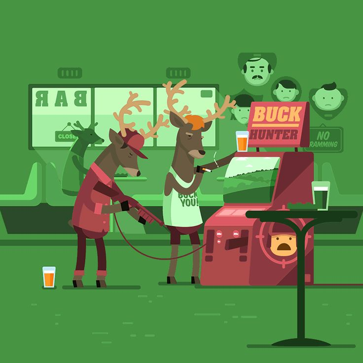 Manimals - Buck Hunter - Animated Gif on Behance