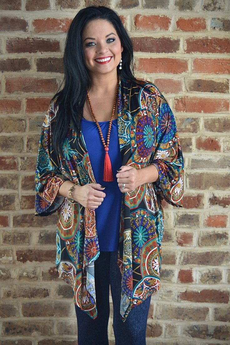 Ryleigh Kimono Cardigan - The ZigZag Stripe