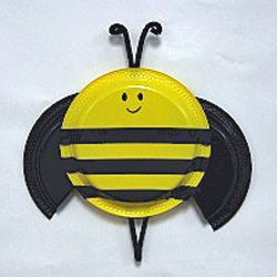 Paper plate bumble bee for spring, summer or insect theme