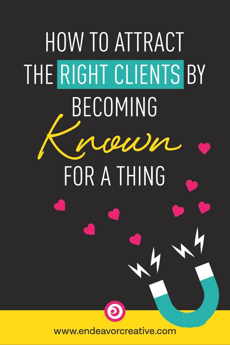 Get #clients coming TO YOU by being the go-to expert! // Endeavor Online