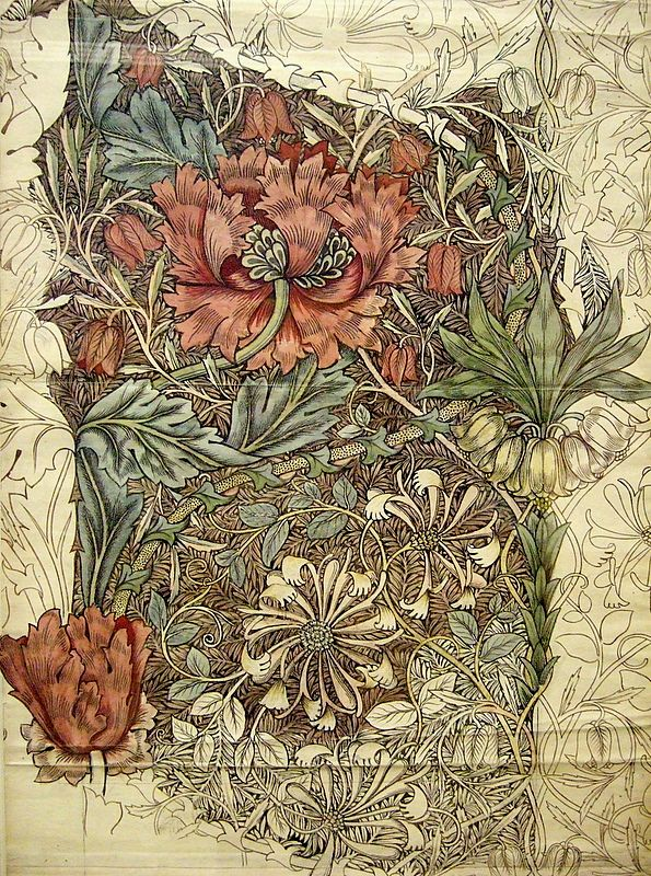 Something about this just reeeealy grabs me. I almost see it as a tattoo. Or fabric for furniture. Or a whole painting. It's just so beautiful to me. -William Morris