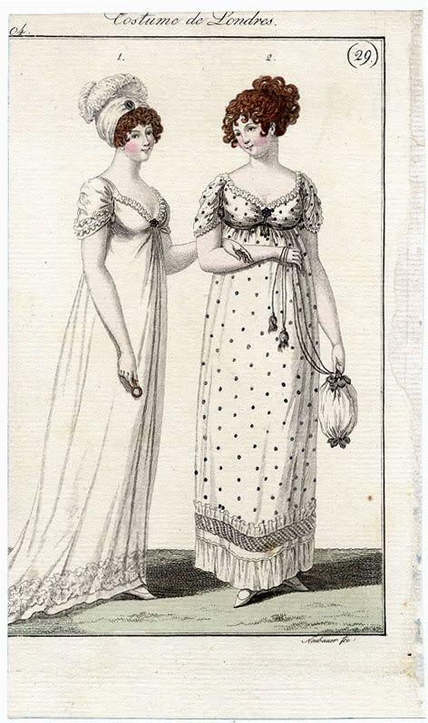 Fashion plates, Costume de Londres, 1804