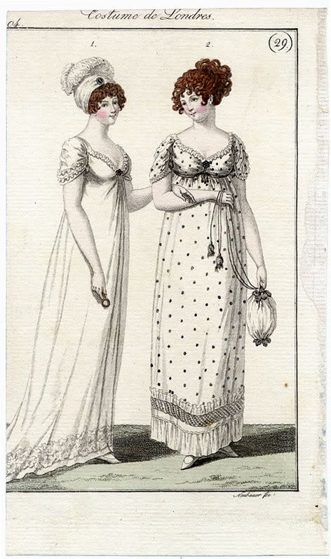 Fashion plates, Costume de Londres, 1804
