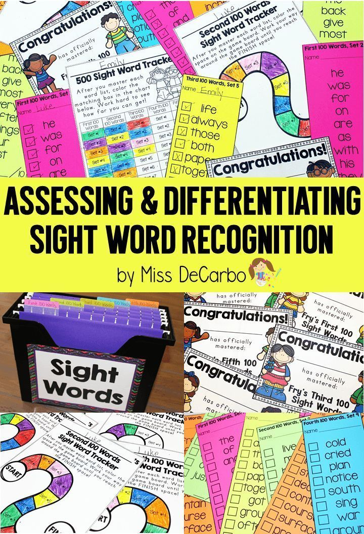 Assessment and Differentiation for Sight Word Recognition: Organization and classroom management ideas to make sight word assessment and practice simple and easy for teachers AND students! These sight word activities are student-friendly and help students