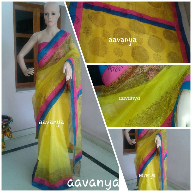 Lemon yellow with rounds concept of block prints. .. Sold out www.facebook.com/Aavanya