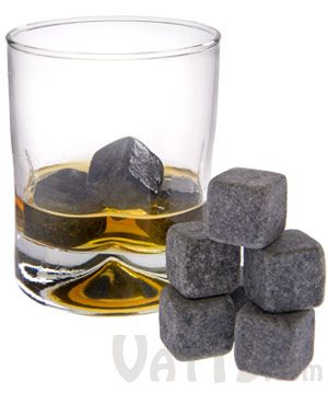 """Whiskey Stones (set of 9)  Chill your liquor without diluting it with these soapstone """"ice"""" cubes.  $19.99"""