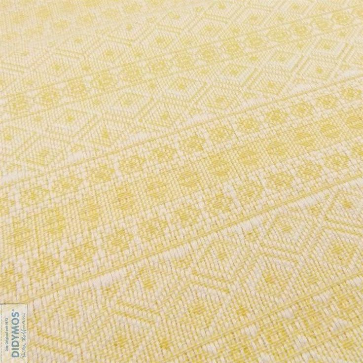 Didymos Prima Lemon - Nature, new, medium, textured, and incredibly beautiful. There are two colours in the warp,natural and lemon yellow and white in the weft.