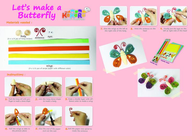 how to make butterfly #kokoru