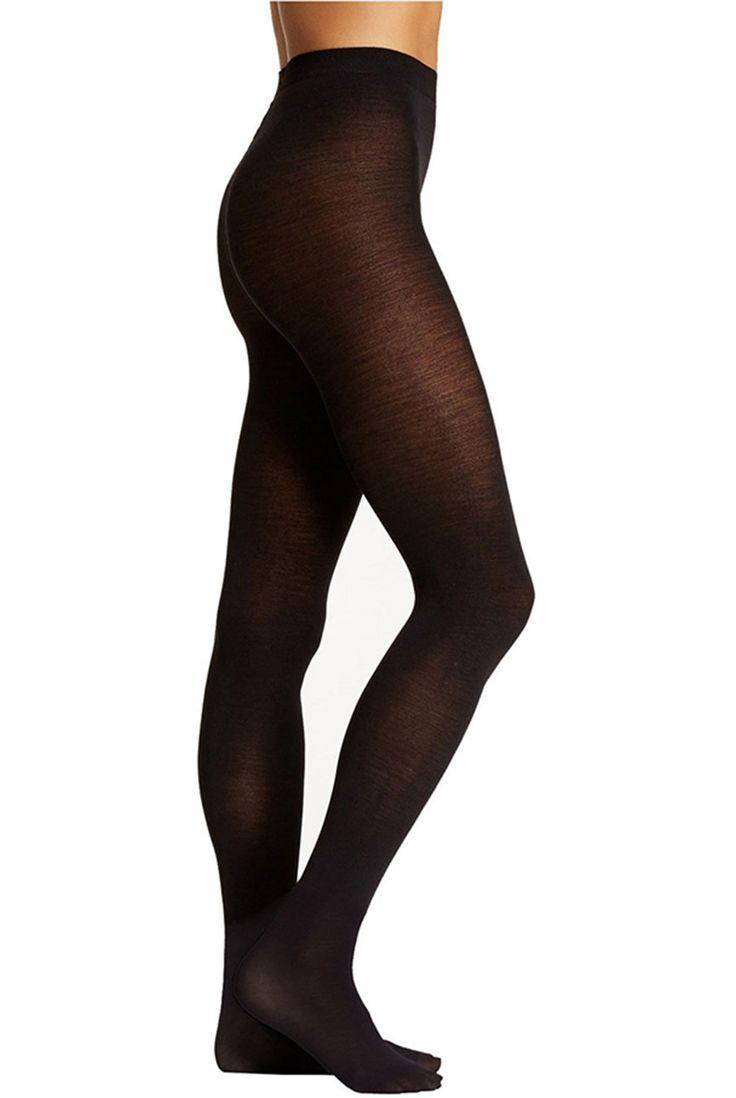 Cashmere Blend Black Tights