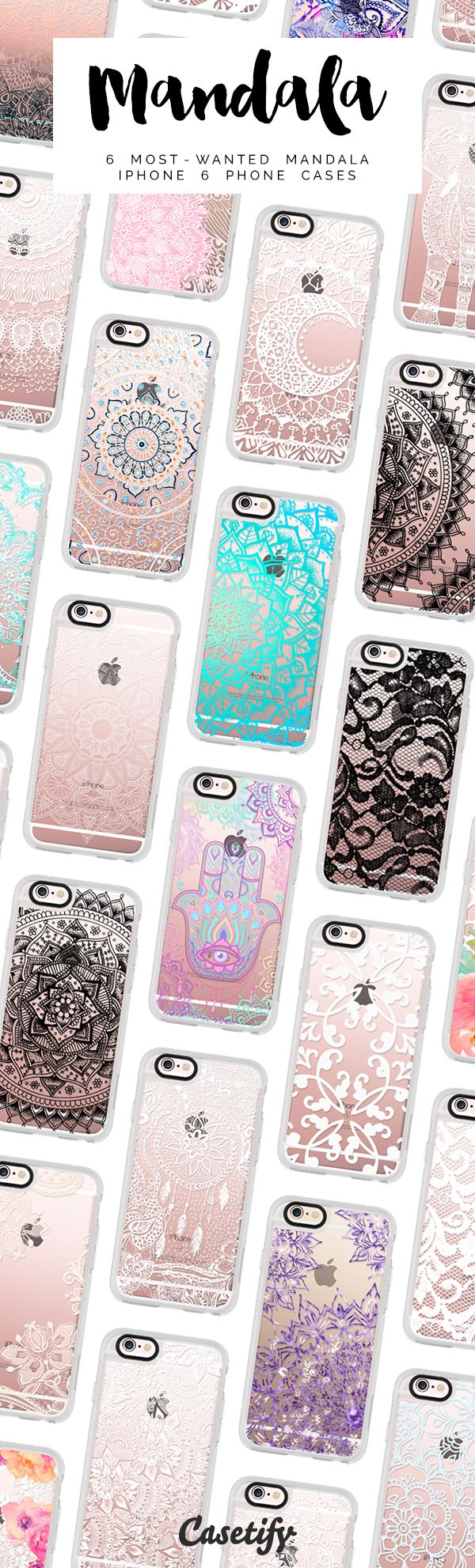 All time favourite mandala lace iPhone 6 protective phone cases | Click through to see more laceprint iphone case ideas >>> https://www.casetify.com/artworks/rvL5DerMBZ | @casetify