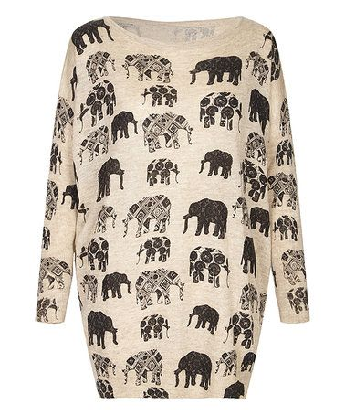 This Beige Elephant Sweater is perfect! #zulilyfinds