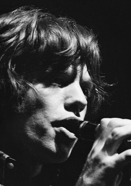mick jagger onstage during the rolling stones european tour from 1976. © roger kasparian.