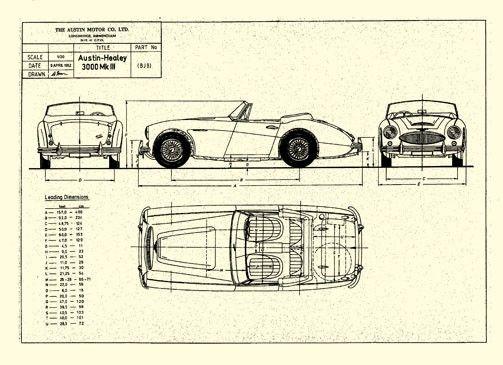 37 best cars blueprints images on pinterest cutaway vintage cars austin healey 3000 mkiii malvernweather Images