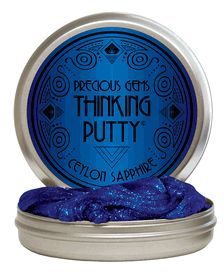 Ceylon Sapphire // The Ceylon region is world renowned for producing the largest and most beautiful sapphires in the world. Crazy Aaron was inspired by the stone's unique hue and superior clarity. Ceylon Sapphire Thinking Putty® gleams with brilliant blue glimmers and brings a sense of strength and peace.