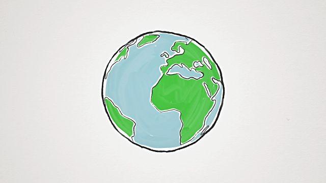 Cartoon Animation Earth Globe Spinning Loopable Animated Earth Globe Animation Earth Globe