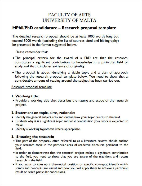 Research Proposal Templates | 10+ Free Printable Word & PDF Samples