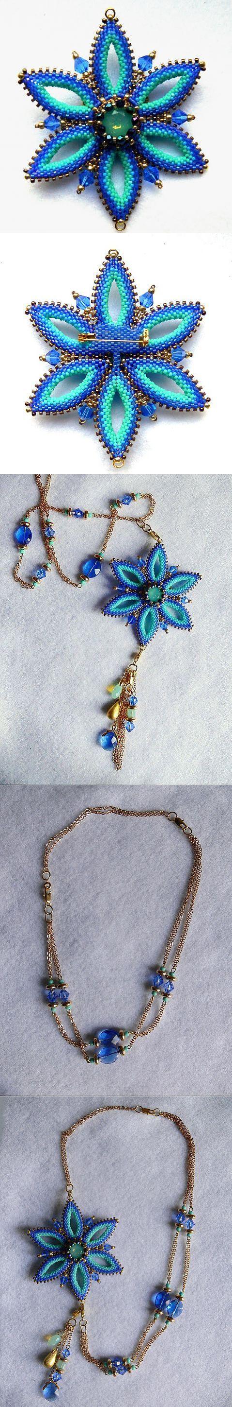 Синяя звезда: украшение-трансформер   biser.info - всё о бисере и бисерном творчестве