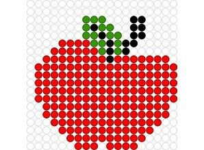 Apple perler bead pattern