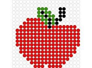 Apple perler bead pattern