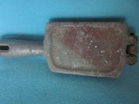 Vintage fishing sinker molds set of 2 lead weight molds for Fishing sinker molds