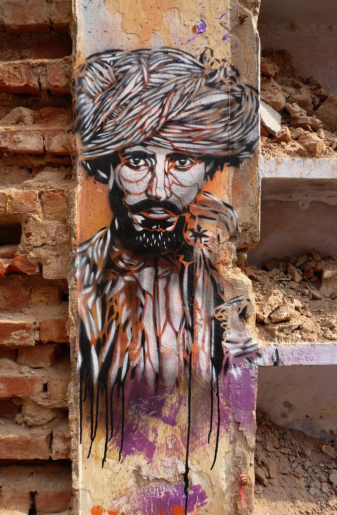 Street Art By C215 - New Delhi (India) - Street-art and Graffiti | FatCap