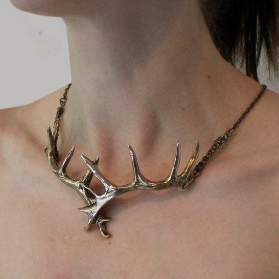 I need this in my life!!  http://www.etsy.com/listing/103987941/stag-antler-choker-necklace-in-solid