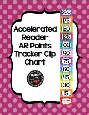 Accelerated Reader (AR) Points Club Clip Chart - Cute Polka Dots from Teacher Tools and Time Savers on TeachersNotebook.com (9 pages)