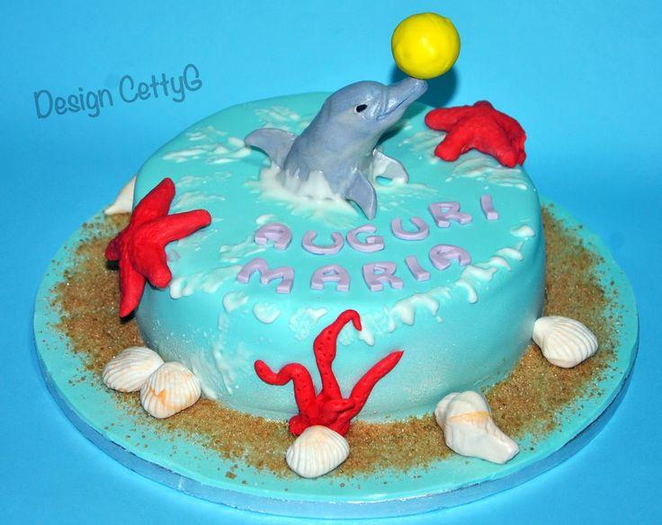 Le torte decorate di CettyG...: Delfino cake...