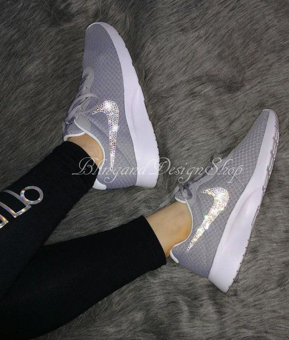 buy popular 2c401 3a116 Nike bling Tanjun women s shoes custom with Swarovski Crystal rhinestones.  Check out this item in