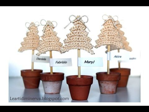 Albero di Natale all'uncinetto semplicissimo | Crochet Christmas tree - YouTube